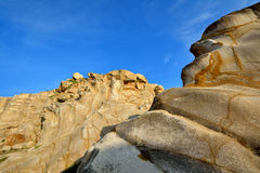 风化花岗岩在福建,在中国南部 库存图片