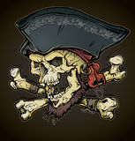 海盗头骨头 库存照片