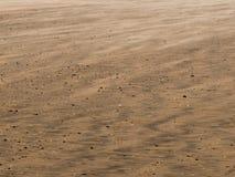 风吹的沙子纹理  免版税库存图片