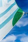 风吹的风帆 免版税库存照片