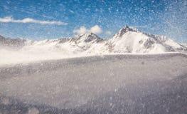 风和雪 免版税库存图片