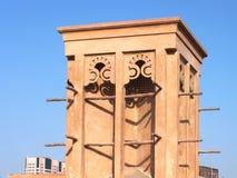 风塔在老迪拜 免版税库存照片