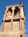 风塔在老迪拜 库存图片