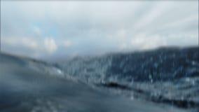 风大浪急的海面圈3D 向量例证