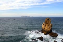 风大浪急的海面通知 免版税库存图片