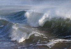风大浪急的海面风雨如磐的通知 库存图片