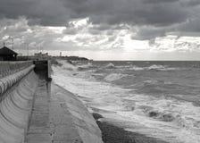 风大浪急的海面 免版税库存照片
