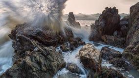 风大浪急的海面 图库摄影