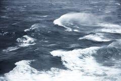 风大浪急的海面 免版税图库摄影