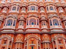 风宫殿,斋浦尔,拉贾斯坦,印度美好的建筑学  免版税库存照片