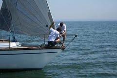 风帆体育运动工作 库存照片