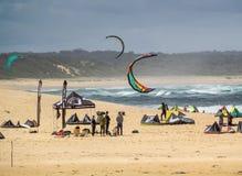 风帆冲浪的事件 免版税库存照片