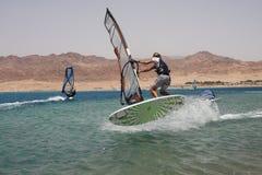 风帆冲浪的体育运动 库存照片