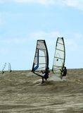 风帆冲浪的竞争 免版税图库摄影