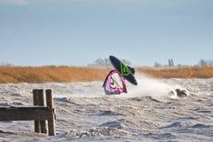 风帆冲浪自由式移动天线 图库摄影