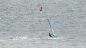 风帆冲浪风筝的冲浪者 影视素材