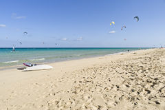 风帆冲浪, Kitesurf, Watersports 免版税库存照片