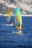风帆冲浪, Lago di加尔达,意大利 库存照片