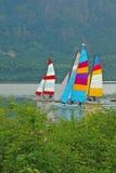 风帆划船 免版税库存照片