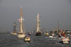 风帆在阿姆斯特丹2015年IJmuiden 库存照片