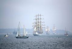 风帆惊人的游行  免版税库存图片