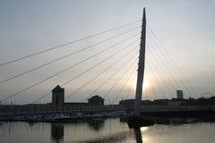 风帆桥梁斯旺西威尔士 图库摄影