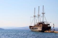 风帆船 免版税库存照片