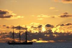 风帆船 库存图片