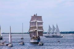 风帆,纽波特, RI游行  免版税库存图片