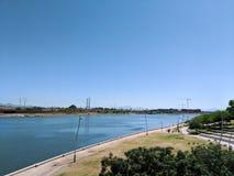 风帆River湖的尼尔G Guliano公园 图库摄影