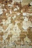 风干砖坯墙壁 图库摄影