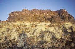 风干砖坯围住,大约1100公元, Kayenta Anasazi部落的城堡镇印地安废墟, AZ 库存照片