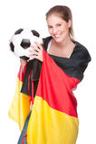 风扇女性足球 库存照片