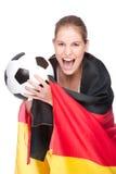 风扇女性足球 免版税库存照片