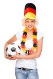 风扇女性足球 图库摄影