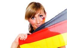 风扇德国人足球 免版税图库摄影