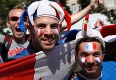 风扇扇动橄榄球法国kyiv区域 免版税库存照片