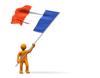 风扇法国 免版税库存图片