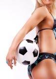 风扇照片性感的足球 图库摄影