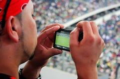 风扇照片足球 免版税库存图片