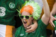风扇爱尔兰语波兹南 免版税库存照片