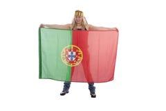 风扇葡萄牙足球 免版税图库摄影
