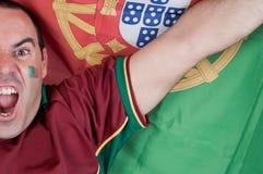 风扇葡萄牙足球 库存照片