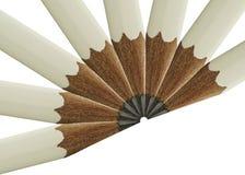 风扇铅笔白色 免版税图库摄影