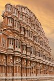风斋浦尔,印度的Hawa玛哈尔宫殿 库存图片