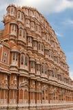 风斋浦尔,印度的Hawa玛哈尔宫殿 免版税库存照片