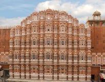 风斋浦尔,印度的Hawa玛哈尔宫殿 库存照片