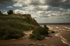 风景、风和波浪 库存图片