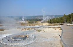 风景上部喷泉的水池 库存照片