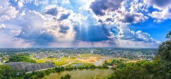 风景下午在一个小镇 图库摄影